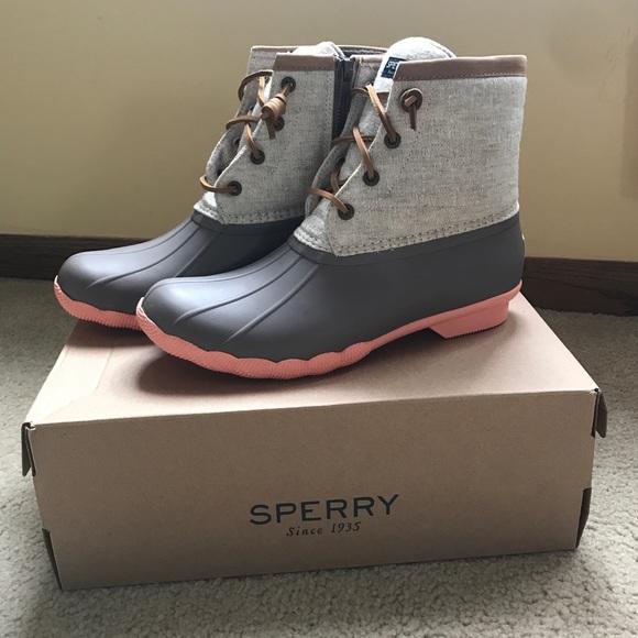 Sperry Duck Boots Saltwater Pop Linen